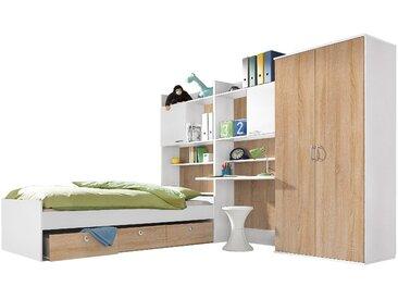 rauch BLUE Jugendzimmer-Set Emilio (Set, 4-tlg) Mit 2-trg. Kleiderschrank beige Kinder Komplett-Jugendzimmer Jugendmöbel Kindermöbel Schlafzimmermöbel-Sets