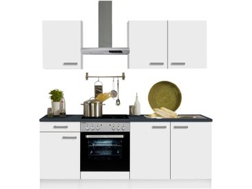 OPTIFIT Küchenzeile Odense, ohne E-Geräte, Breite 210 cm, mit 28 mm starker Arbeitsplatte, Gratis Besteckeinsatz Einheitsgröße weiß Küchenzeilen Geräte -blöcke Küchenmöbel Arbeitsmöbel-Sets