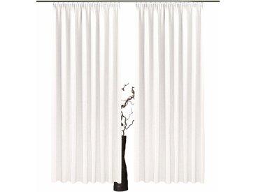 Vorhang, Una, VHG, Kräuselband 2 Stück 1, H/B: 130/140 cm, blickdicht, weiß Blickdichte Vorhänge Gardinen Gardine
