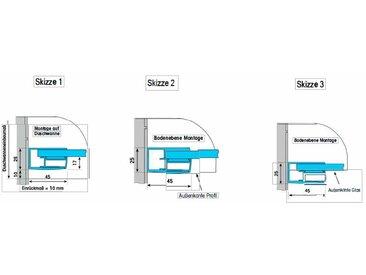 Dusbad Eckdusche Vital 1 Drehtür mit Festteil/ Vierteilig Einheitsgröße farblos Duschkabinen Duschen Bad Sanitär