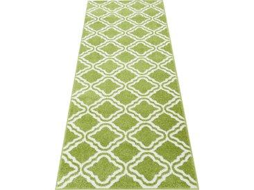 my home Läufer Debora, rechteckig, 13 mm Höhe, weiche Haptik B/L: 67 cm x 230 cm, 1 St. grün Teppichläufer Teppiche und Diele Flur