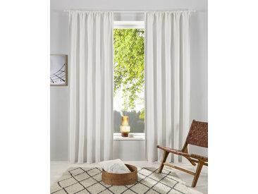 OTTO products Gardine Lasse 175 cm, Stangendurchzug, 140 cm weiß Blickdichte Vorhänge Gardinen
