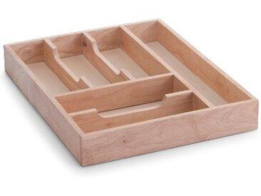 Zeller Present Besteckkasten, Gummibaumholz 34x43x6 cm beige Küchen-Ordnungshelfer Küchenhelfer Küche Schubladeneinsätze
