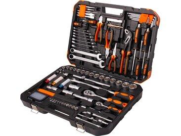 Profiwerk Werkzeugset, (127 St.), befüllter Werkzeugkoffer 57 cm x 12 schwarz Werkzeug Maschinen Werkzeugset
