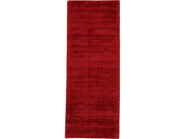 carpetfine Läufer Ava, rechteckig, 13 mm Höhe, Viskoseteppich, Seidenoptik B/L: 80 cm x 400 cm, 1 St. rot Teppichläufer Teppiche und Diele Flur