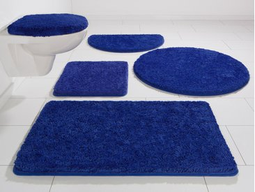 Badematte Chaozhou, KiNZLER, Höhe 20 mm, rutschhemmend beschichtet, fußbodenheizungsgeeignet 7, rund Ø 90 cm, mm blau Einfarbige Badematten
