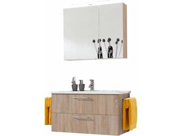 OPTIFIT Waschtisch-Set Napoli (Set, 2-tlg) Einheitsgröße beige Bad-Sparsets Badmöbel Kastenmöbel-Sets