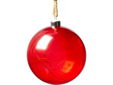 LED Dekoobjekt Weihnachtskugel, Warmweiß, mit innenliegender Lichterkette und Timer Ø 15 cm Höhe: 17 rot Deko-Objekte Figuren Skulpturen Wohnaccessoires