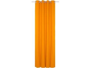 Vorhang, WirthNatur, Wirth, Ösen 1 Stück 5, H/B: 260/130 cm, blickdicht / energiesparend, orange Blickdichte Vorhänge Gardinen Gardine