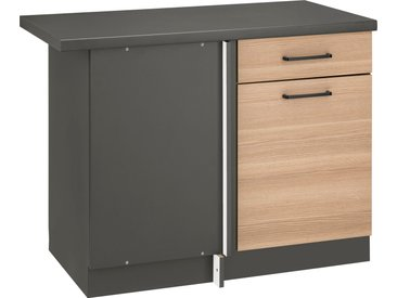wiho Küchen Eckunterschrank Esbo 110 x 85 60 (B H T) cm, 1-türig beige Unterschränke Küchenschränke Küchenmöbel Schränke