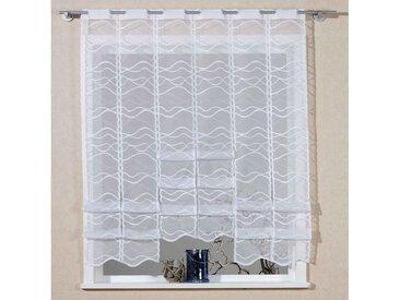Scheibengardine, Bella, VHG, Stangendurchzug 1 Stück 9, H/B: 180/100 cm, halbtransparent, weiß Gardinen nach Aufhängung Vorhänge Gardine