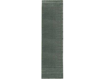 morgenland Läufer LORIBAFT TEPPSTAR, rechteckig, 15 mm Höhe, reine Schurwolle Unifarben B/L: 80 cm x 300 cm, 1 St. grau Teppichläufer Bettumrandungen Teppiche