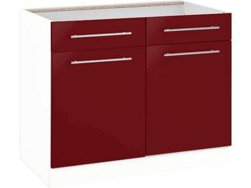 wiho Küchen Unterschrank Flexi2, Breite 100 cm B/H/T: x 82 57 rot Unterschränke Küchenschränke Küchenmöbel