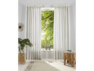 OTTO products Gardine Matts 145 cm, Schlaufen, 140 cm weiß Blickdichte Vorhänge Gardinen