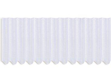 Gerster Scheibengardine nach Maß CAROLA 90 cm, Stangendurchzug weiß Wohnzimmergardinen Gardinen Räumen Vorhänge