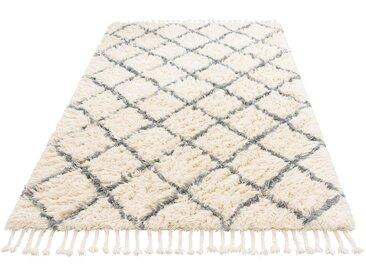 Home affaire Wollteppich Marcus, rechteckig, 50 mm Höhe, reine Wolle, Hochflor, Wohnzimmer B/L: 120 cm x 180 cm, 1 St. grau Esszimmerteppiche Teppiche nach Räumen