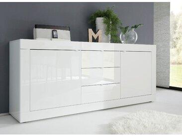 LC Sideboard Basic TOPSELLER 210x43x86 cm, 3 Schubladen weiß Sideboards Kommoden