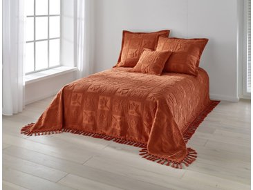 Tagesdecke jaquardgewebt 6, ca. 280/250 cm, orange Tagesdecken Decken