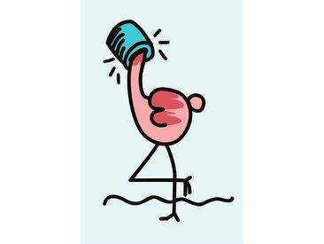 queence Leinwandbild Flamingo 80x120 cm rosa Leinwandbilder Bilder Bilderrahmen Wohnaccessoires