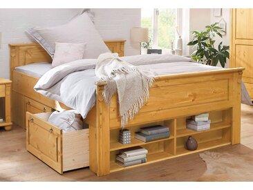 Home affaire Massivholzbett Ascona 140x200 cm Höhe Bettseite: 56,5 beige Doppelbetten Betten