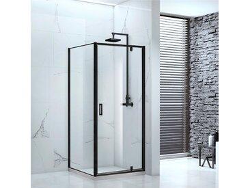 Marwell Eckdusche Cube, mit Drehtür B/H: 90 cm x 200 schwarz Duschkabinen Duschen Bad Sanitär Bodenablauf