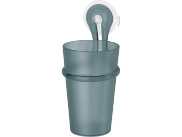 KOZIOL Zahnputzbecher LOOP, spülmaschinengeeignet, inklusive Halterung Einheitsgröße schwarz Badaccessoires Badmöbel