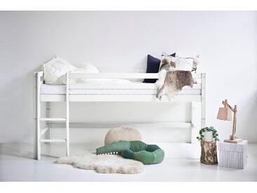 Hoppekids Hochbett BASIC (Set, Bett) 90x200 cm weiß Kinder Hochbetten Kinderbetten Betten