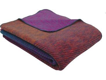 BIEDERLACK Wohndecke Dusk, mit wunderschönem Farbverlauf B/L: 150 cm x 200 blau Baumwolldecken Decken