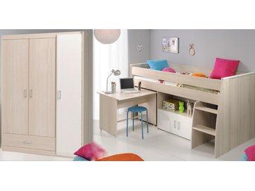 Parisot Jugendzimmer-Set Charly (Set, 2-tlg) Einheitsgröße weiß Kinder Komplett-Jugendzimmer Jugendmöbel Kindermöbel Schlafzimmermöbel-Sets