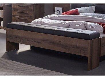 FORTE Bettbank Bellevue, inkl. Stauraumfach B/H/T: 185 cm x 56 37 cm, Kunstleder beige Sitzbänke Nachhaltige Möbel