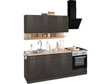 HELD MÖBEL Küchenzeile Virginia, mit E-Geräten, Breite 210 cm B: grau Küchenzeilen Geräten -blöcke Küchenmöbel