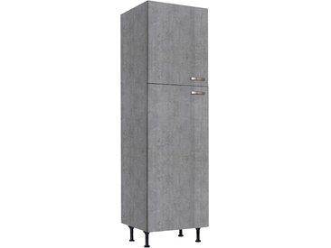 OPTIFIT Kühlumbauschrank Cara 60 x 211,8 58,4 (B H T) cm grau Umbauschränke Küchenschränke Küchenmöbel Schränke