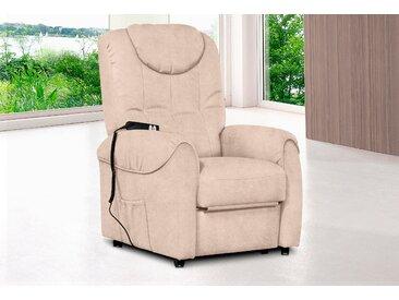 sit&more TV-Sessel Luxus-Microfaser ALTARA NUBUCK®, mit Motor beige Fernsehsessel und Sessel