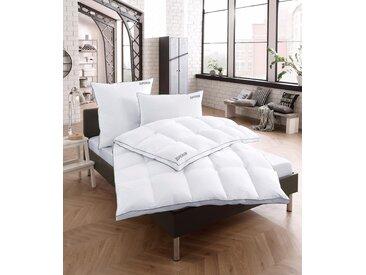 Gänsedaunenbettdecke, Superior, RIBECO, Füllung: 100% Gänsedaunen, Bezug: Baumwolle weiß, 200x200 cm, Premium weiß Daunendecke Bettdecken Bettdecken, Kopfkissen Unterbetten Bettdecke