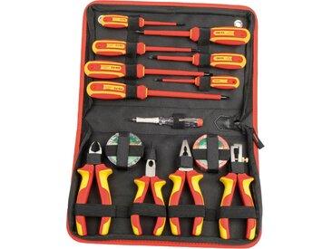 Brüder Mannesmann Werkzeuge Werkzeugset, (Set, 14 St.) 53 x 35 5 cm rot Werkzeugkoffer Werkzeug Maschinen Werkzeugset