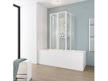 Schulte Badewannenfaltwand, 2 x gerahmt, BxH: je 104 140 cm Einheitsgröße weiß Duschwände Duschen Bad Sanitär