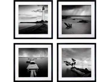 G&C Kunstdruck Levy: Beach Bilderset (Set) 50x50 cm schwarz Kunstdrucke Bilder Bilderrahmen Wohnaccessoires