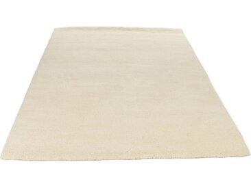 THEKO Wollteppich Royal Dou 1, rechteckig, 22 mm Höhe, reine Wolle, echter Berber, handgeknüpft, Wohnzimmer B/L: 120 cm x 180 cm, 1 St. weiß Esszimmerteppiche Teppiche nach Räumen