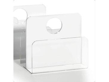 Places of Style Zeitungsständer Remus, aus Acrylglas 33x18x31 cm weiß Büroaccessoires Wohnaccessoires