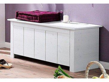 Home affaire Sitztruhe Bertram B/H/T: 100 cm x 45 cm, 1 Klappe weiß Truhenbänke Sitzbänke Stühle