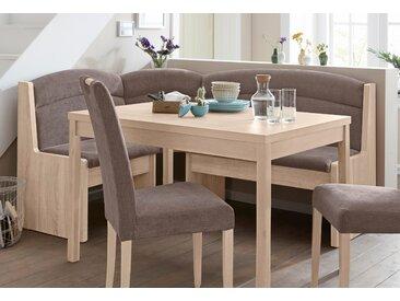 Eckbank Moldau B/H/T: 175 cm x 91 135 cm, Struktur braun Eckbänke Sitzbänke Stühle