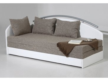 Maintal Polsterliege 90x200 cm, 5-Zonen-Federkernmatratze weiß Einzelbetten Betten Komplettbetten