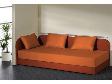 Maintal Polsterliege Liegehöhe 55 cm, Liegefläche B/L: 90 cm x 200 kein Härtegrad, Federkern-Festpolster orange Polsterliegen Gästebetten Betten