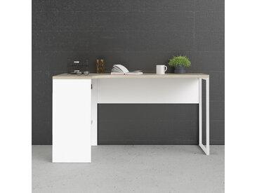 Home affaire Eckschreibtisch Plus, mit vielen Stauraummöglichkeiten, zeitloses Design B/H/T: 145,1 cm x 76,8 81 weiß Büromöbel Nachhaltige Möbel