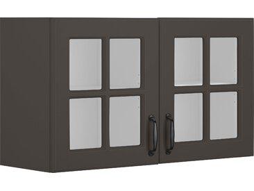wiho Küchen Glashängeschrank Erla, Front mit Glaseinsatz 100 x 56,5 35 (B H T) cm grau Hängeschränke Küchenschränke Küchenmöbel Schränke