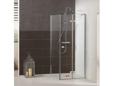Dusbad Eckdusche Vital 1, Drehfalttür mit Seitenwand B/H: 77,5 cm x 200 cm, nur links montierbar farblos Duschkabinen Duschen Bad Sanitär Bodenablauf