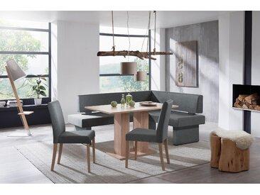 Eckbankgruppe Fontana, modernes, zeitloses Design Polyester, Langer Schenkel links grau Eckbankgruppen Tische
