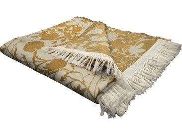 Wohndecke Flower Cuvée, Adam 145x190 cm, Baumwolle gelb Baumwolldecken Decken Wohndecken