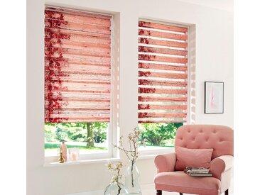 Home affaire Doppelrollo Print D&n Blind, Lichtschutz, ohne Bohren, freihängend, im Fixmaß 210 cm, einseitig verschiebbar, 80 cm braun Rollos Bohren Jalousien