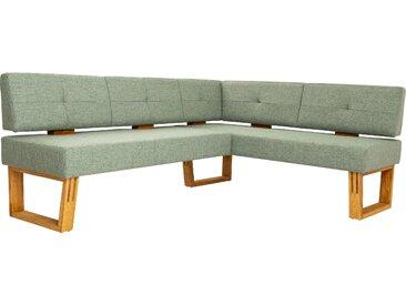 Eckbank Ponza langer Schenkel links grün Eckbänke Sitzbänke Stühle